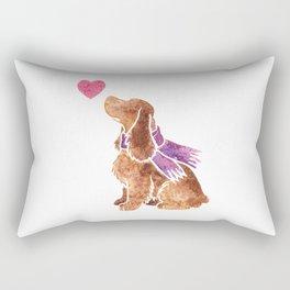 Watercolour English Cocker Spaniel Rectangular Pillow
