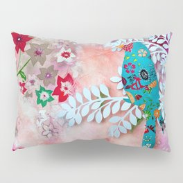 Little bird on branch Pillow Sham