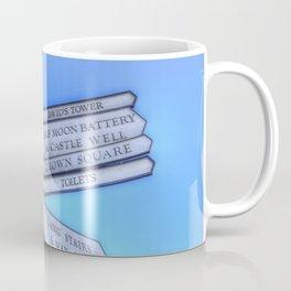 Edinburgh Castle Directions Post Coffee Mug