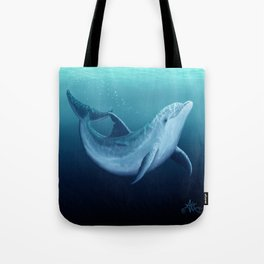 """""""Riversoul Blue"""" by Amber Marine ~ Dolphin Art, (Copyright 2014) Tote Bag"""