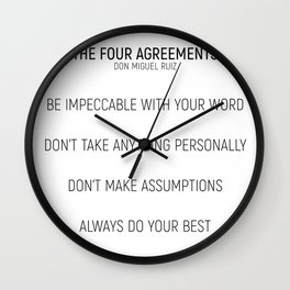 The Four Agreements #minismalism #shortversion Wall Clock