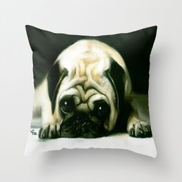 PUG POWER OUTAGE Throw Pillow