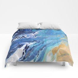 Sea Shore: Acrylic Pour Painting Comforters