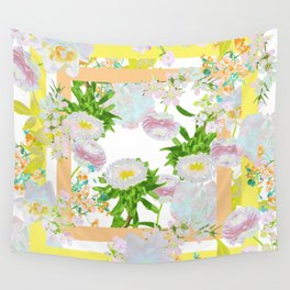 Floral Frame Collage Wall Tapestry