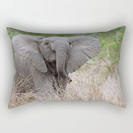 Young elephant - Africa wildlife Rectangular Pillow