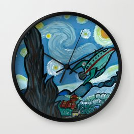 Starry Flight Wall Clock