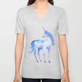 Watercolor Unicorn Unisex V-Neck