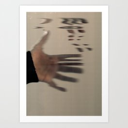 hand scan. Art Print