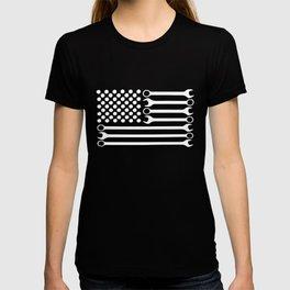 Mechanic Flag Racing Jdm Mech Steampunk Black Mechanic T-Shirts T-shirt