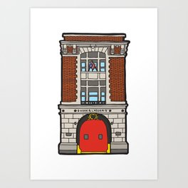 Ghostbusters Fire Station Art Print