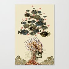 at the bottom anatomical collage by bedelgeuse Canvas Print