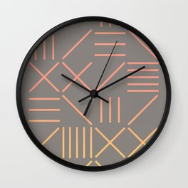 Geometric Shapes 12 Gradient Wall Clock