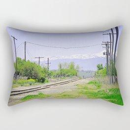 Railroad path Rectangular Pillow