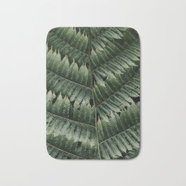 Silver Tree Fern, Botanical plant, Close Up - Plant Photography Art Print Bath Mat