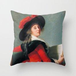 Vigée Le Brun Baronne de Crussol Throw Pillow