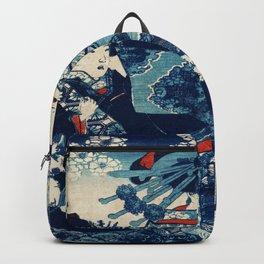 Geisha At Winter Traditional Japanese Characters Backpack