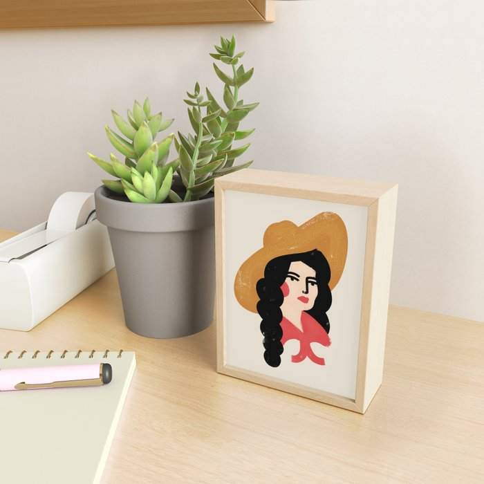 Abstract Cowgirl Framed Mini Art Print