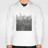 plaid Hoodies featuring Plaid City by LindaWexlerArt