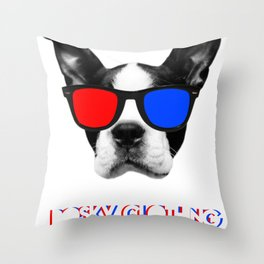 3D Terror  Throw Pillow