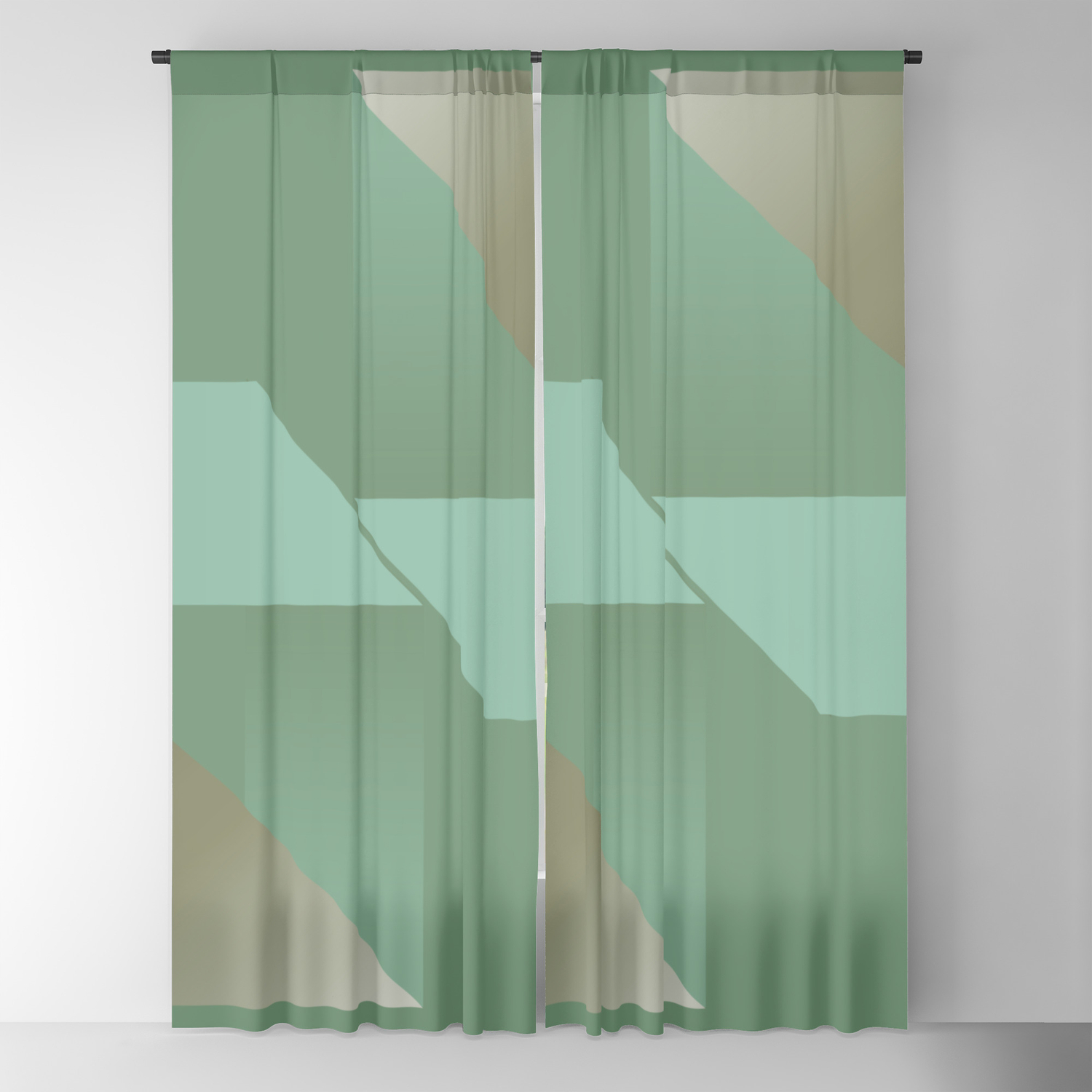 Image of: A Hymn To Friendship Mid Century Modern Blackout Curtain By Anutu Society6
