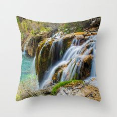 Hanging Lake Throw Pillow