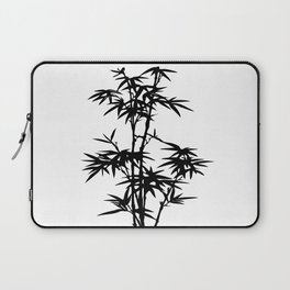 Bamboo Silhouette Black And White Laptop Sleeve