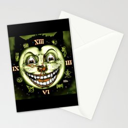 Black Cat 13 Halloween Clock Stationery Cards