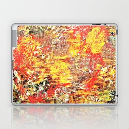 Golden Autumn Abstract Laptop & iPad Skin
