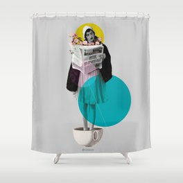 news int the morning Shower Curtain