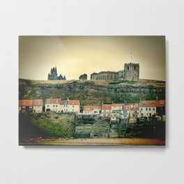 Whitby Abbey England Metal Print