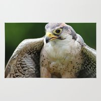 falcon Area & Throw Rugs featuring Peregrine Falcon by Trevor Jolley