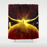 atlas Shower Curtains featuring ATLAS - 225 by Lazy Bones Studios