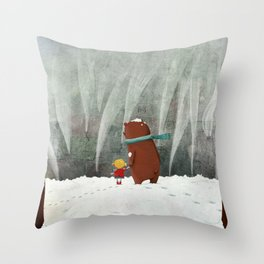 View from the hill Throw Pillow