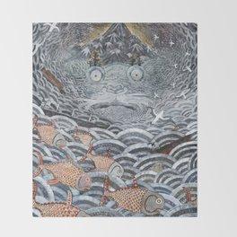 Golden Fishes Throw Blanket