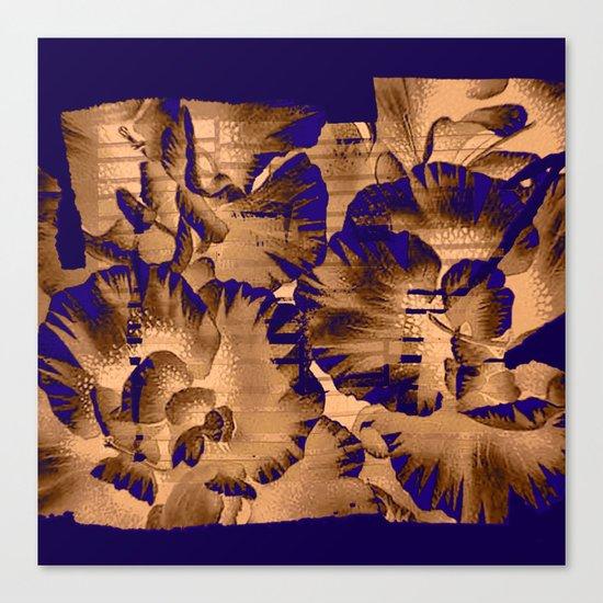 flowers through a pane Canvas Print