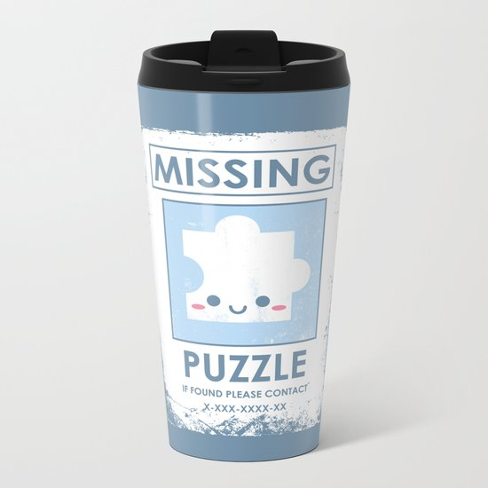 The Missing Puzzle Metal Travel Mug