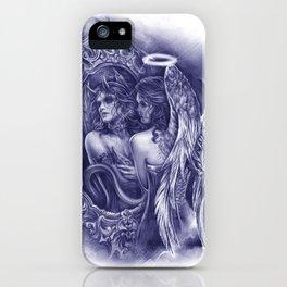 Good or Evil (Blue Version) iPhone Case