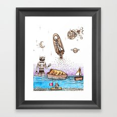 Space Boats Framed Art Print