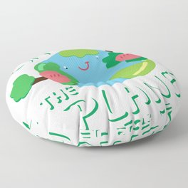 Save The Planet For Me Earth Day Floor Pillow