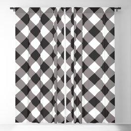 Gingham - Black Blackout Curtain