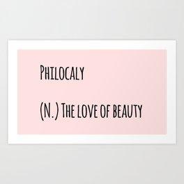 The Love Of Beauty Art Print