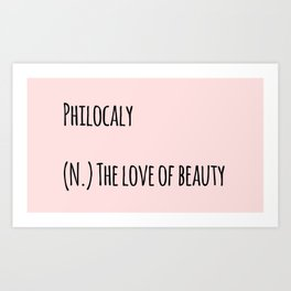 The Love Of Beauty Art Print