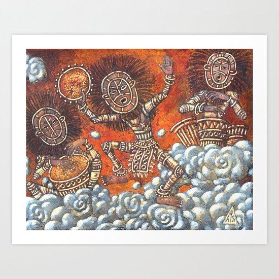 Skydancing Art Print