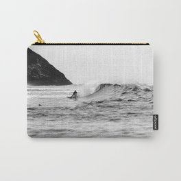 Black and White Surfer Print Carry-All Pouch
