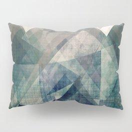 Mountains print, Abstract print, geometric wall art, abstract mountain, minimalist art, modern art, Pillow Sham