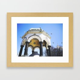 Turkish Bird Bath Framed Art Print