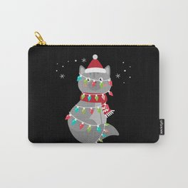 Christmas Cat Christmas Present Cats Carry-All Pouch