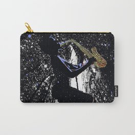 LADY JAZZ SAXOPHONE MUSIC AMONG THE STARS Carry-All Pouch