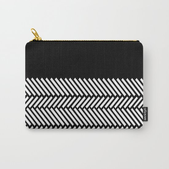 Herringbone Boarder Carry-All Pouch