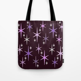 Mid Century Modern Star Sky Purple Tote Bag